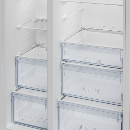 Beko 635L Inverter Side by Side Refrigerator ASL141X