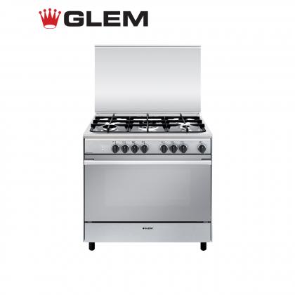 Glem Unica G Dual Fuel 5 Gas Burner Range Cooker 90cm