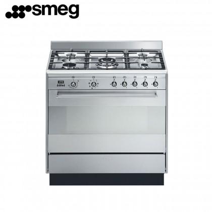 Smeg SUK91MFX9 Concert Gas Range Cooker 90cm (Stainless Steel)