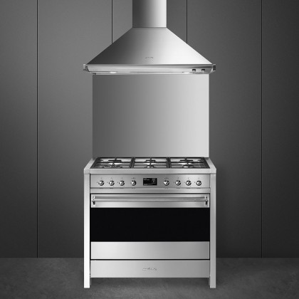 Smeg A1-9 Opera Gas Range Cooker 90cm (Stainless Steel)