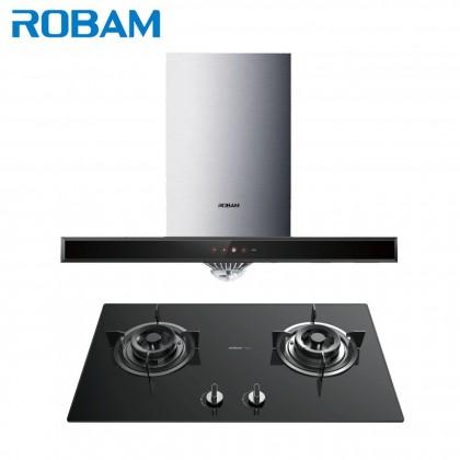 [Bundle] Robam A815 90cm Cooker Hood + B276 High Flame Series 2 Gas Burner Built-in Hob