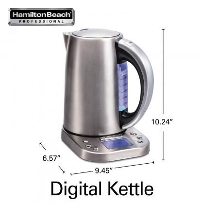 Hamilton Beach 41028-SAU Kettle with Digital Controls 1.7L (Stainless Steel)