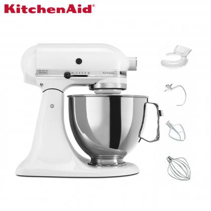 KitchenAid 5KSM150PSB Artisan 4.8L Tilt-Head Stand Mixer (White) 5KSM150PSBWH