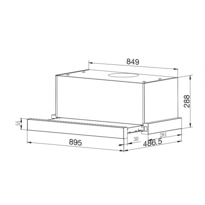Forseti Pilano 90 Pull Out Cooker Hood 1300m³/h