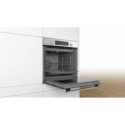Bosch HBA534BS0A Serie 4 Built-in Oven 71L - Made in Poland