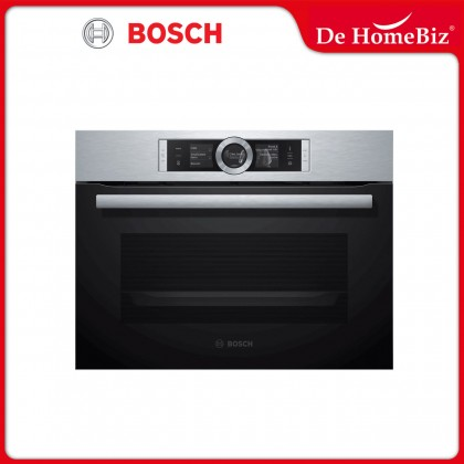 Bosch CSG656RS2A Serie 8 Built-in Compact Steam Oven 47L - Made in Germany