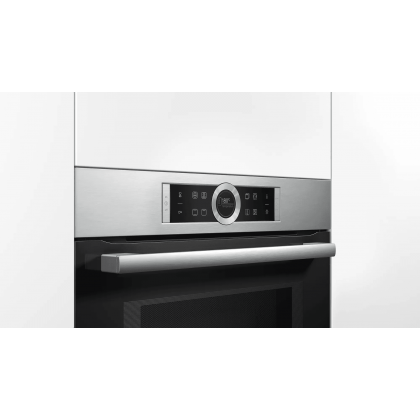Bosch CMG633BS1B Serie 8 Built-in Compact Oven with Microwave Function 45L - Made in Germany