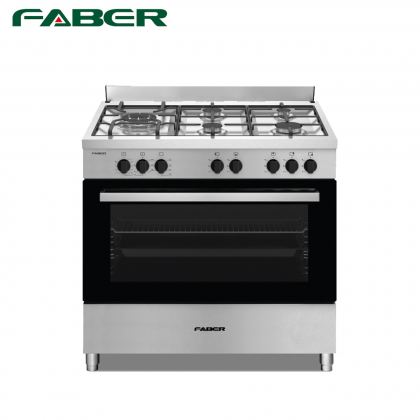 Faber FISSO 9995E/SS Dual Fuel 5 Gas Burner Range Cooker 90cm - Made in Europe