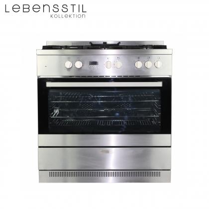 ETA Oct 2021 [Bundle Deal] Lebensstil Kollektion LKRC-9150G 5 Gas Burner Range Cooker 90cm + LKCHi-9303 Inverter Designer Cooker Hood 1,600m³/h