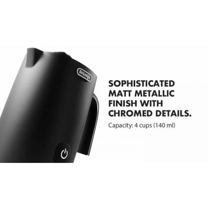 Delonghi EMFI.BK Electric Automatic Milk Frother 140ml (Black)