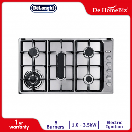 Delonghi IL 519 ASD DX 5 Burners Gas Hob 3.5kW (Stainless Steel)