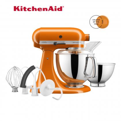 KitchenAid 5KSM175PSGHY Artisan 4.8L Tilt-Head Twin Bowl Stand Mixer Kitchen Machine (Honey) 5KSM175PS 5KSM175